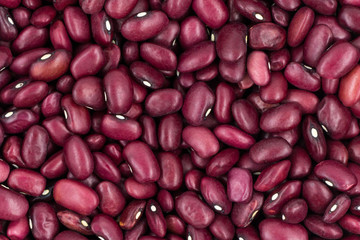 Ripe red beans texture background
