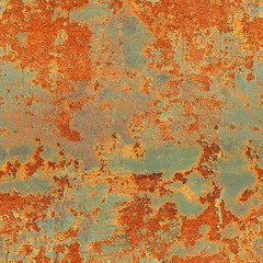 seamless texture. metal wall with rust.