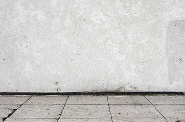 gray aged street wall background outdoors, texture