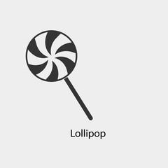 Lollipop vector icon solid grey