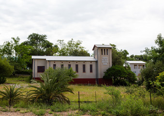 German church in the city of Outjo in northern Namibia