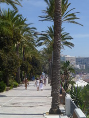Beach of Marbella, town of Malaga. Andalucia,Spain