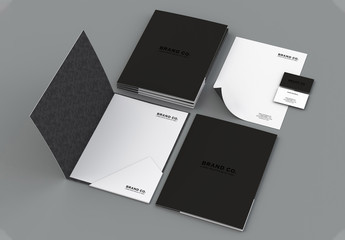 Bold Black and White Stationary Kit Layout
