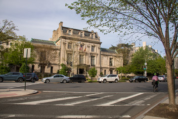 Urban view of the streets in Washington DC, Spring