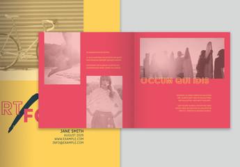 Colouful Portfolio Layout with Photo Overlays