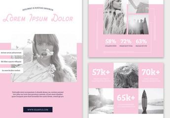 Pink Blog Social Media Kit Layout