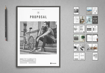 Project Proposal Layout with Gray Accents