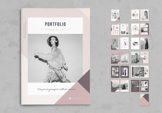 Photography Portfolio Layout with Pink Accents