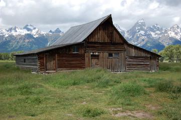 TA Moulton Barn, historic Mormon row in Grand Teton National Park