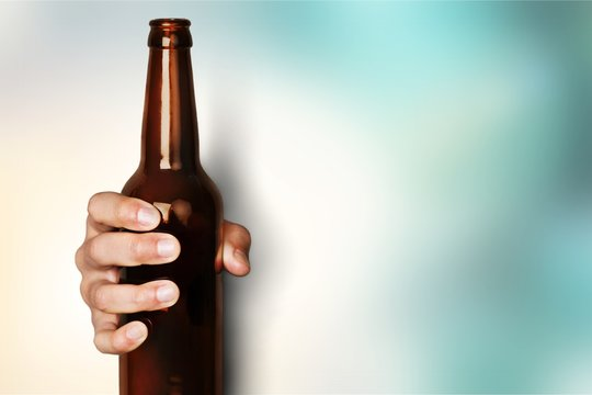 Can drink man hand holding jar aluminum