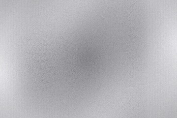 Brushed silver metal sheet surface, abstract texture background