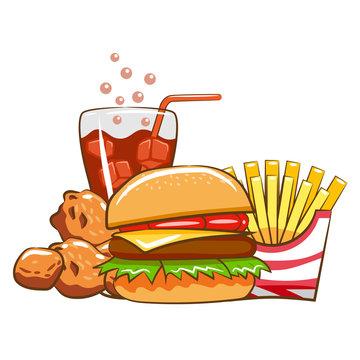 fast food vector clipart design