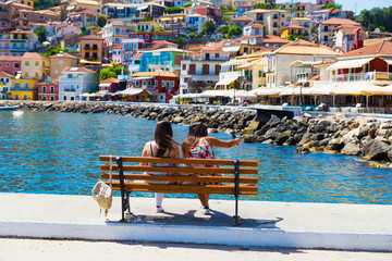parga city greek summer tourist resort houses colors Wall mural