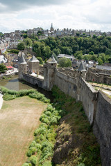Castello, Fougeres, Bretagna, Francia, Europa