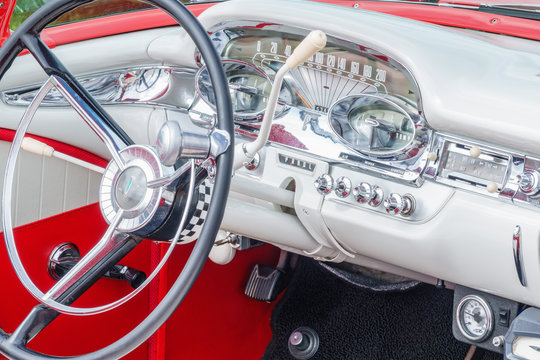 Interior of an old Ford Edsel