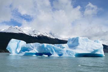 Navigation on Argentino lake, Patagonia landscape, Argentina