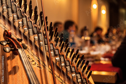 Arabic music instruments during the performance