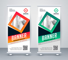 modern standee rollup presentation banner