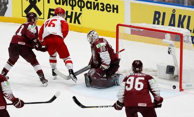 Ice Hockey World Championships - Group B - Latvia v Russia