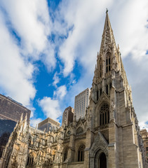 Wall Mural - St. Patrick's Cathedral one of  main one of the main Manhattan Landmarks in New York City USA