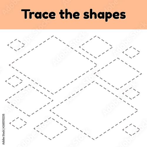 Educational tracing worksheet for kids kindergarten ...