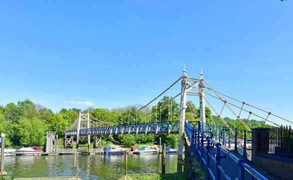 Teddington Locks Footbridge on the Thames Path