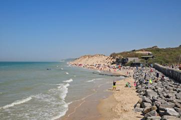 La costa a  Wissant,  Pas-de-Calais, Hauts-de-France,