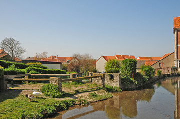 Il villaggio di Wissant,  Pas-de-Calais, Hauts-de-France,