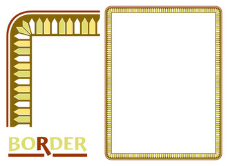 Old World Borders Vector - Tiled frame in plant leaves and flowers Framework Decorative Elegant style