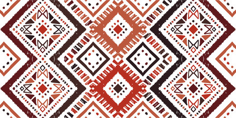 Ikat seamless pattern. Tribal art print. Chevron