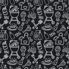 Custom blinds with your photo barbecue seamless pattern