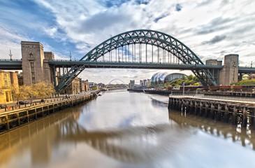 The Tyne Bridge in Newcastle upon Tyne in Great Britain