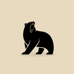Bear symbol - isolated vector illustration - Vector