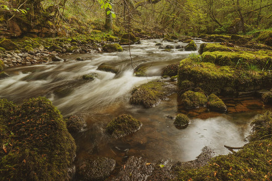 Flowing water on the RIver Taf, Wales