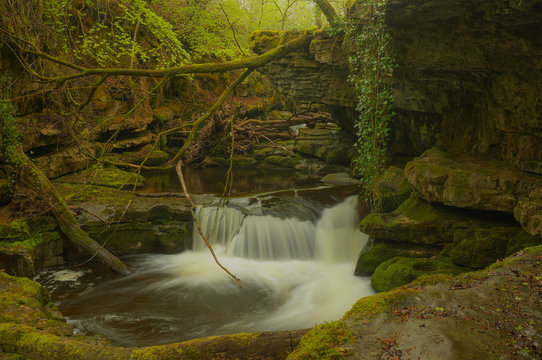 A small waterfall on the River Taf, Wales