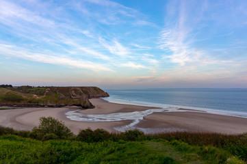 3 cliffs Bay at sunset, Wales