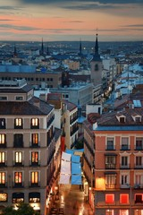 Wall Mural - Madrid rooftop view at dusk