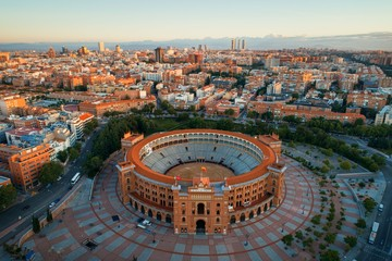 Photo Blinds Madrid Madrid Las Ventas Bullring aerial view