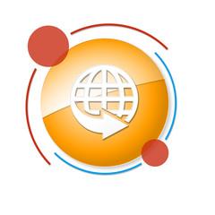 Fototapeta okrągły baner z ikoną obraz