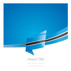 New abstract Botswana flag ribbon origami blue background vector