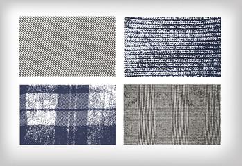 set of vector textures cloth jeans tweed