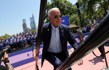 U.S. presidential candidate and former Vice President Joe Biden holds kickoff rally of his campaign for the 2020 Democratic presidental nomination in Philadelphia