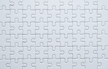 Puzzle pieces grid,Jigsaw puzzle white colour,Success mosaic solution template,Horizontal
