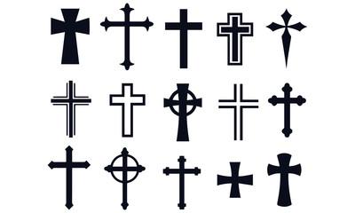 christian cross vector design religion sign