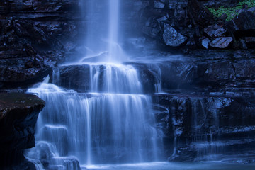 Belmore Water Falls, New South Wales. Cascading Water on Rocks and Pond. Wall mural