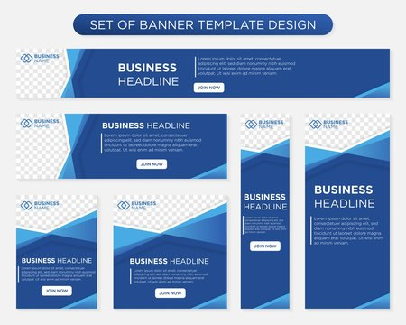 set of promotion kit banner template design with modern and minimalist concept user for web page, ads, annual report, banner, background, backdrop, flyer, brochure, card, poster, presentation lauyout