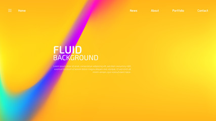 Trendy summer fluid gradient background, colorful abstract liquid 3d shapes. Futuristic design wallpaper for banner, poster, cover, flyer, presentation, advertising, landing page