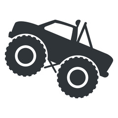 Monster truck icon vector isolated