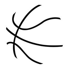 Basketball ball simple vector illustration eps10
