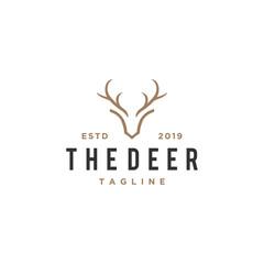 deer antlers vector logo design